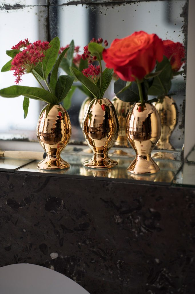 Vases Egg S. GOLD