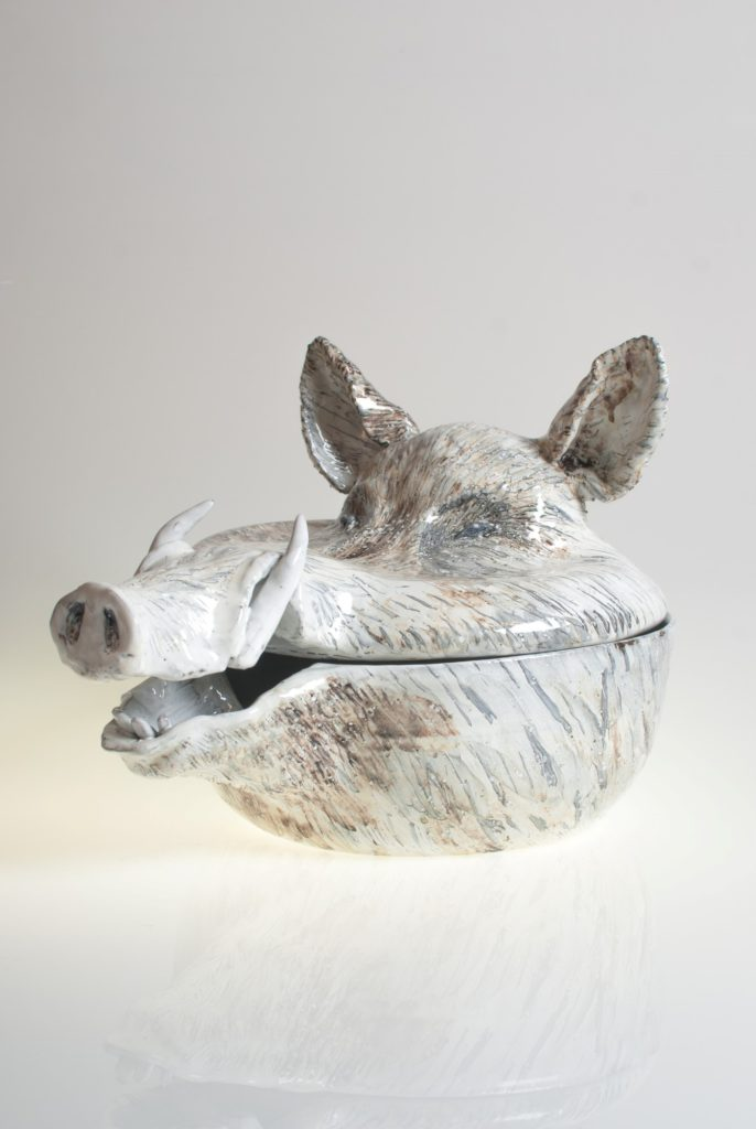 Wild boar head XL tureen.